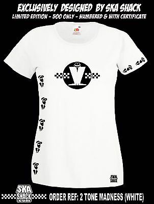 SKA 2 TONE S XXL EXCLUSIVE /& numbered Ladies MADNESS T SHIRT High Quality