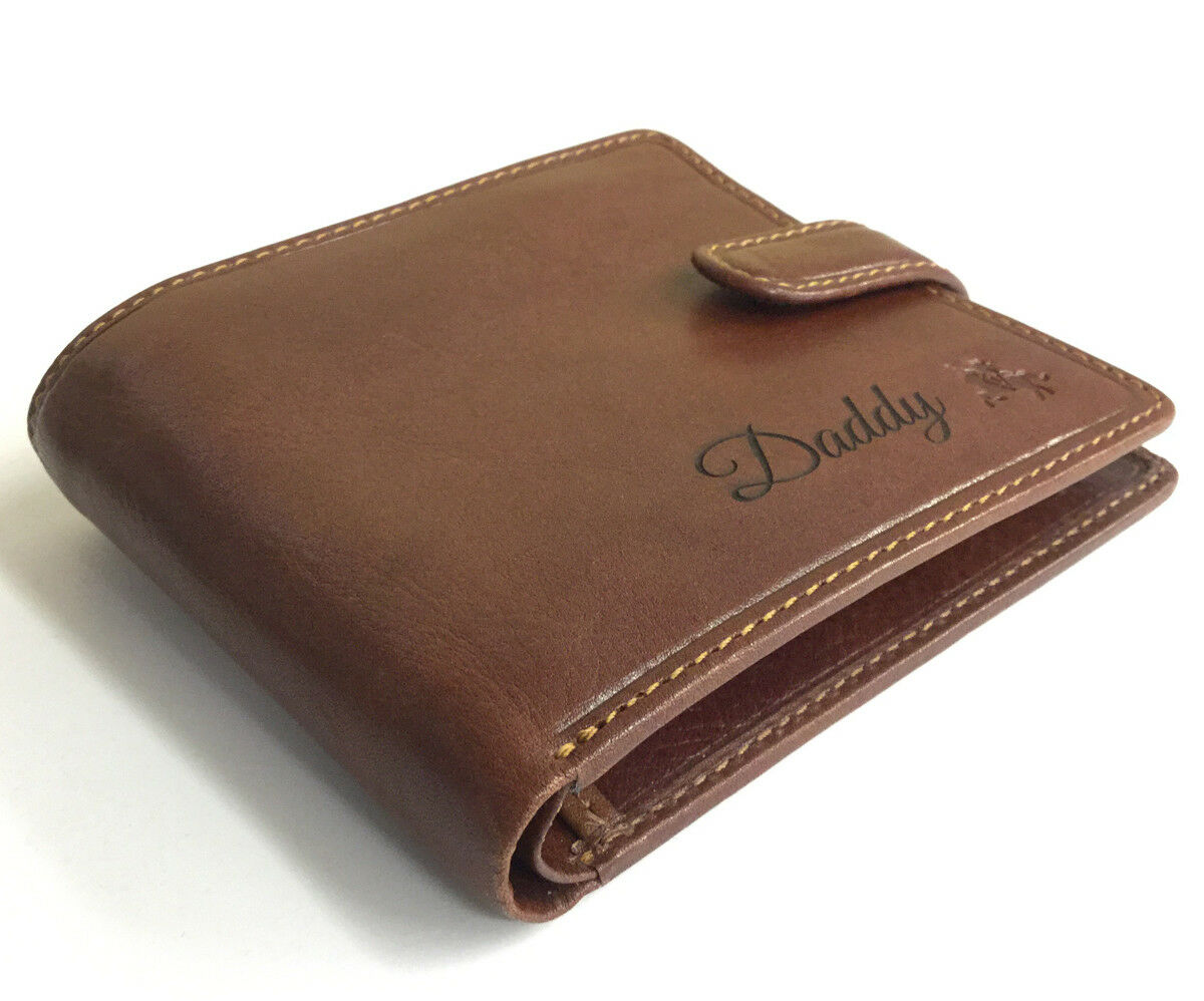 Personalised RFID Premium Premium Premium Leather Wallet FREE ENGRAVING | Hohe Qualität  718df2