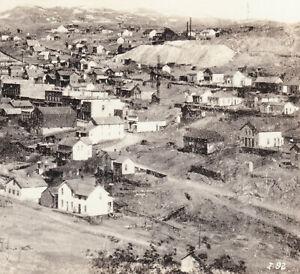 Nevadaville-Colorado-Ghost-Town-RPPC-PostCard-Bald-Mountain-Central-City-Mining