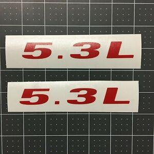 Pair of 5.0L Vinyl DECALS Badge Hood Fender Door Tailgate Emblem