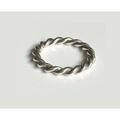 GENUINE PANDORA Silver Twisted Stacking Ring 190602 FREE DELIVERY