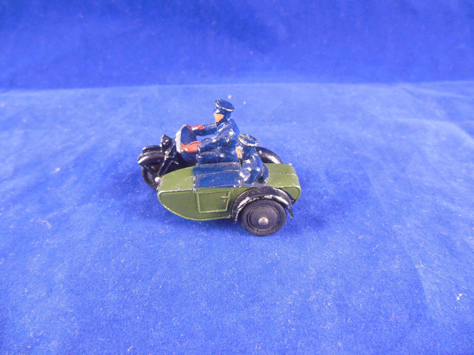 Vintage DINKY TOYS 42 patrouille de  police moto et side-voiture Superbe & Original  connotation de luxe discret