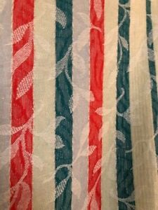 Vintage 1950's Colourful Woven Bedspread / Throw / Bed Cover - Great!