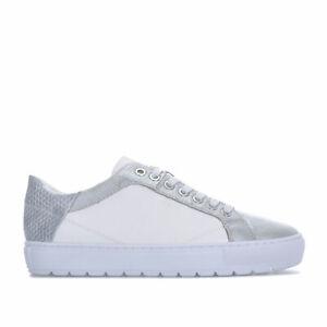 Chaussures-femme-GEOX-breeda-Baskets-en-Blanc-Argent
