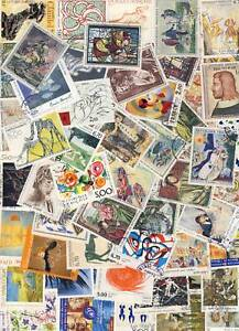 Lot-of-100-stamps-paintings-france-block-different