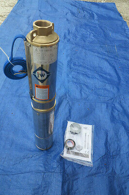 Brand New Submersible  Deep Well water Pump 2 HP 220V Brass outlet 1 1/4""