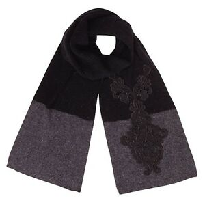 Alice-Hannah-Ladies-Girls-Long-Warm-Lace-Colour-Block-Scarf-In-Black-amp-Grey
