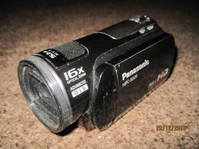 Panasonic  HDC-SD20  Hi Def  Flash Media Camcorder. FAULTY!!