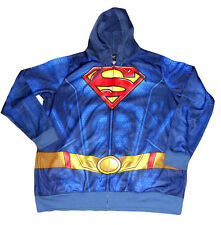 NEW MENS Dc Comics SUPERMAN Fleece hoodie Zip-Up HOODY JACKET Size - Med
