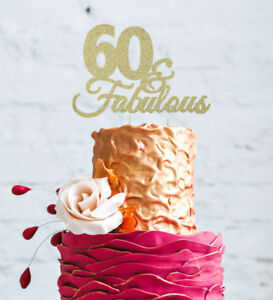 Image Is Loading 60 Amp Fabulous Cake Topper Happy 60th Birthday