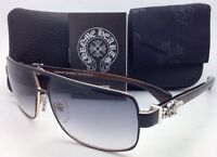 Chrome Hearts Sunglasses Tank Slapper Mbk/gp-ebpv Black/gold Plated Frame W/grey