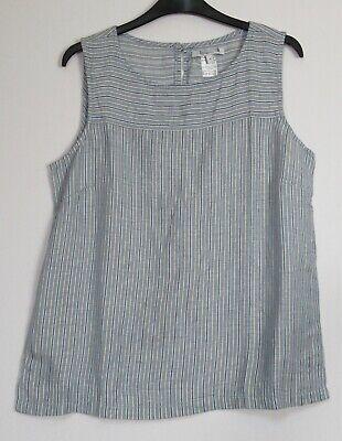 Next 8-26 Linen Blend Black Daisy Print Lace Summer Holiday Vest Shell Top