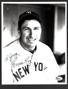 Ernie Koy D.2007 Signed Autograph New York Yankees 8x10 Photo - JSA R22995