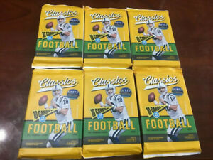 2018-CLASSICS-FOOTBALL-PACKS-6-PACK-LOT-MAYFIELD-BARKLEY-RC-ROOKIE-WOW