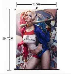 Poster HD Print Anime Harley Quinn Home Decor Wall Scroll Gift 24*36inch