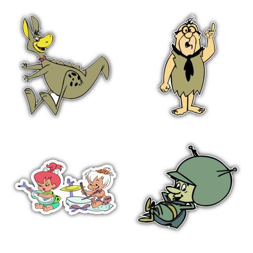 5/'/' longer side ID:1 The Flintstones Cartoon Set Of 4 Vinyl Sticker Decal