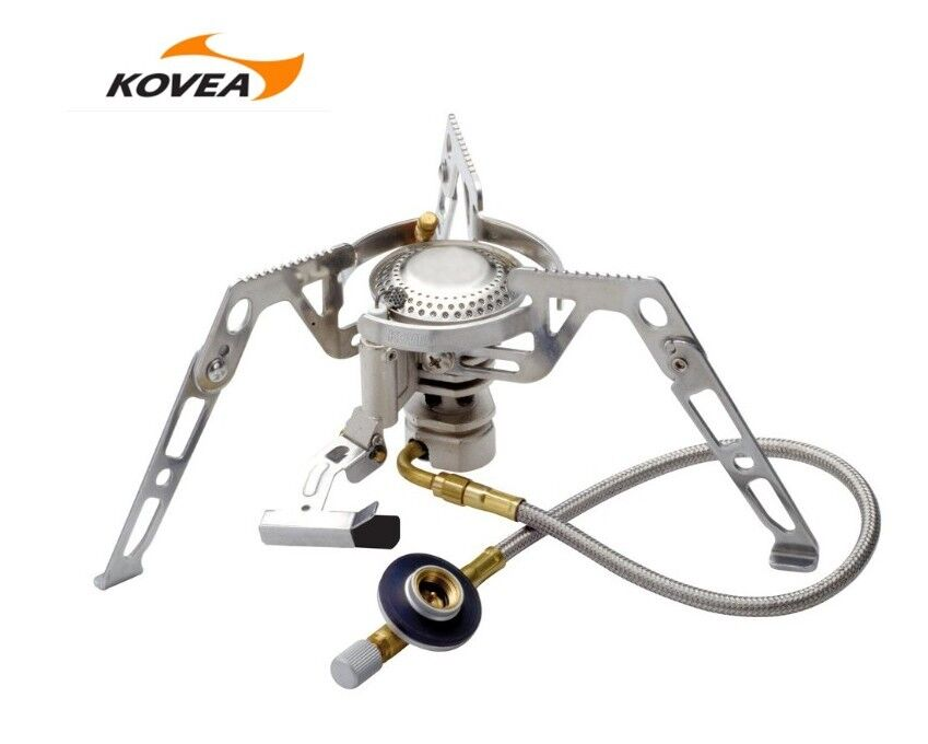 KOVEA CAMP4 Gas Stove KB 0211 & Gas Aadapter TKA9504 For Outdoor Indoor Cooking