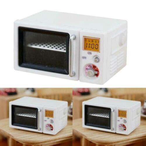 Crema horno de microondas casa de muñecas en miniatura de cocina Accesorio