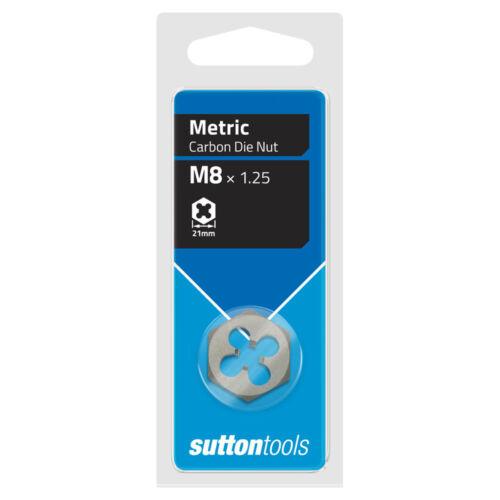 SUTTON M10 x 1.5mm METRIC CARBON DIE NUT THREAD CLEANER RESTORER