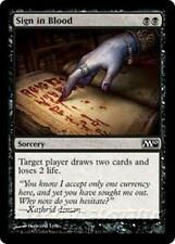 SIGN IN BLOOD M10 Magic 2010 MTG Black Sorcery Com