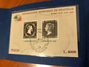 Details about 1985 Folder Booklet Package erinnofilo Penny Black and 5 Lire  cancelled Italy- show original title