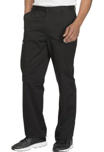 Black Cherokee Scrubs Workwear Core Stretch Mens Fly Front Pants Ww200 Blkw