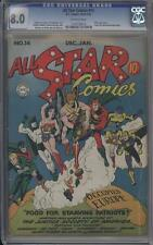 ALL-STAR COMICS 14 - CGC 8.0 - Classic Cover - Hitler appears - DC Comics