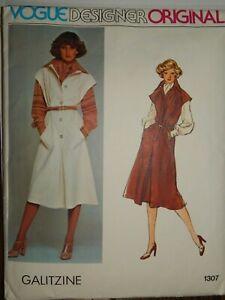 Jumper Blouse Scarf 1307 Size 12 VOGUE Sewing Pattern Cut Complete Vtg Galitzine