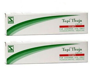 Details about 2 x Dr  Willmar Schwabe TOPI THUJA CREAM For Warts 25gm