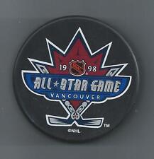 1998  NHL All-Star Game  Vancouver BC  Souvenir Hockey Puck