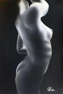 Dibujo de una niña desnuda # 132. Aerografía.