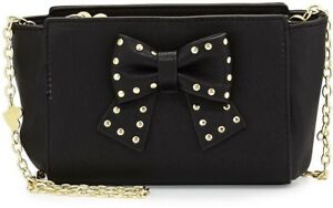 NWT-Betsey-Johnson-Studded-Bow-Crossbody-Purse-Handbag-Bag