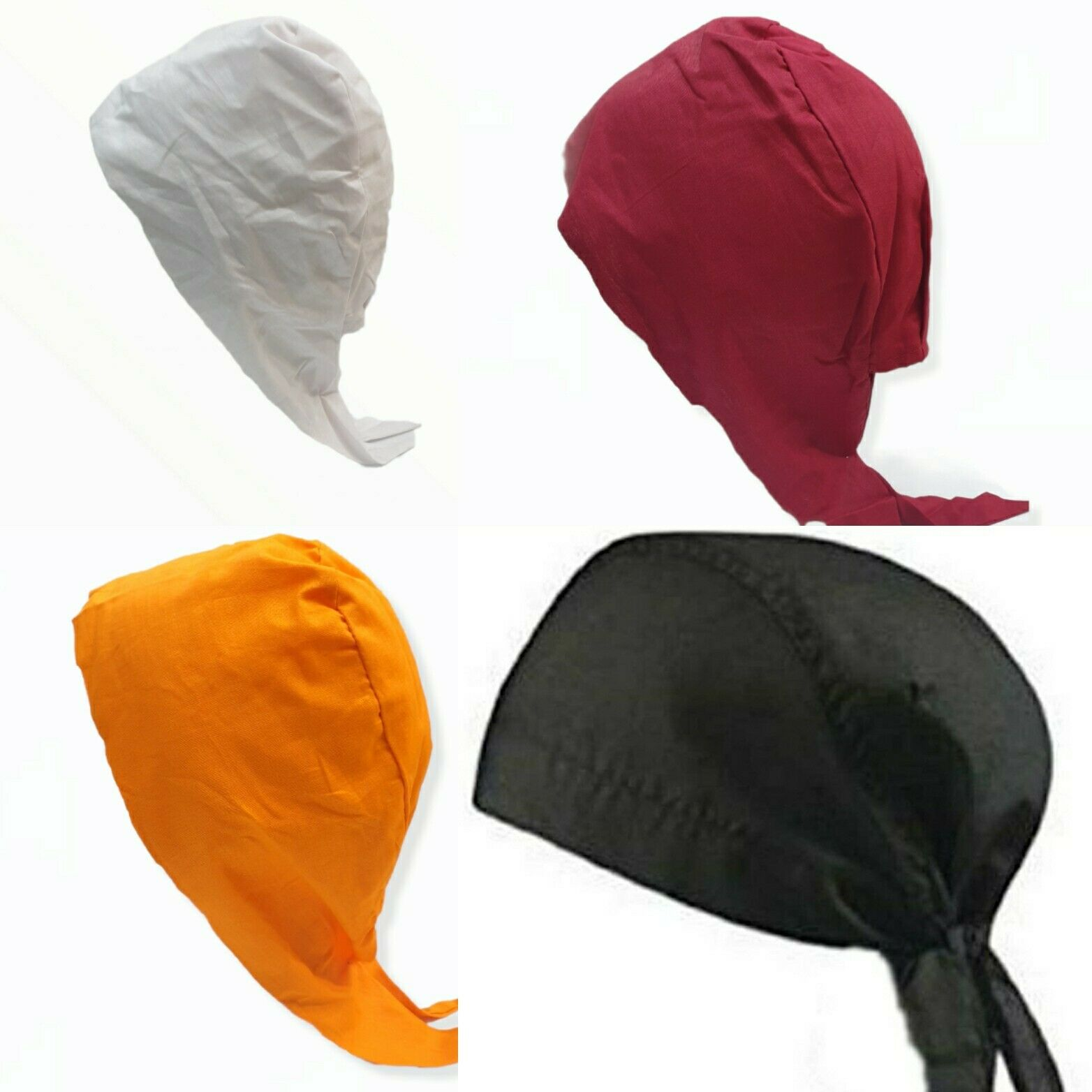 Readymade Biker Skull Cap And Men's Sikh Patka With 2 Strings in colours