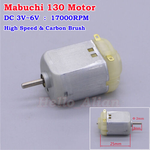 Mabuchi DC 3V 5V 6V 17000RPM High Speed 8mm Shaft 130 Motor For DIY Toy Car Boat