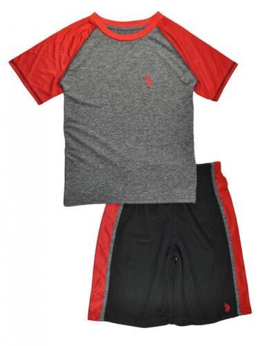 US Polo Assn Toddler Boys Black /& Red 2pc MeshShort Set Size 2T 3T 4T $34