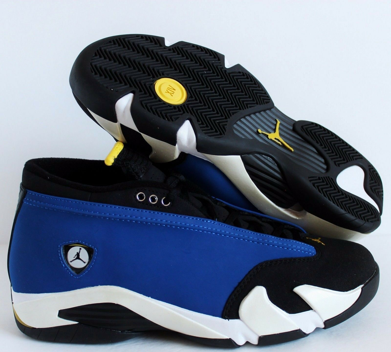 Nike Air Jordan 14 Retro Low Laney Varsity Royal-Maize SZ 9 [807511-405]