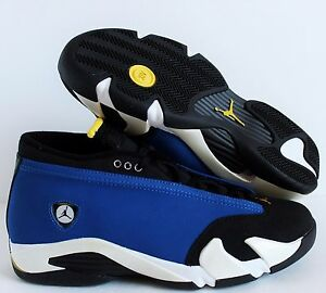 bcd78752f7d535 Nike Air Jordan 14 Retro Low Laney Varsity Royal-Maize SZ 9  807511 ...