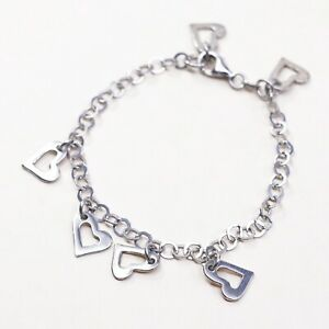 Sterling Silver Handmade Chain Bracelet with Charm