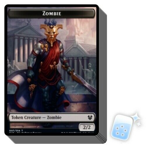 X10 Theros Beyond Death THB Magic MTG MINT CARD ZOMBIE TOKEN 7//14