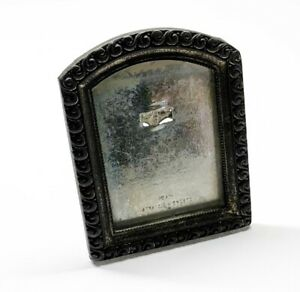 Antique Early 1900s MADE IN CZECHOSLOVAKIA Tin / Silver-Tone Photo Picture Frame