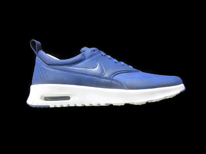 BNIB Damenschuhe Nike Air Max Thea Prm Sports Runners Sneaker Schuhes Blau/WEISS 8.5
