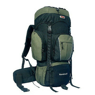 75L Internal Frame Camping Hiking Travel Backpack-Green