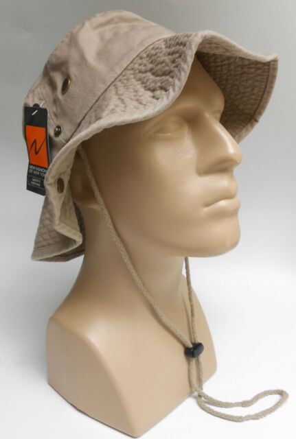 Boonie Bucket Hat L/XL Fishing CapTan Khaki Cotton Newhattan