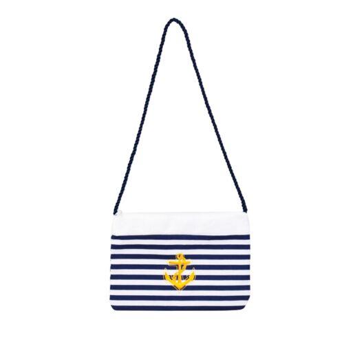 Nautical Sailor Navy Purse Bag Fancy Dress Costume Accessory Shoulder Handbag UK