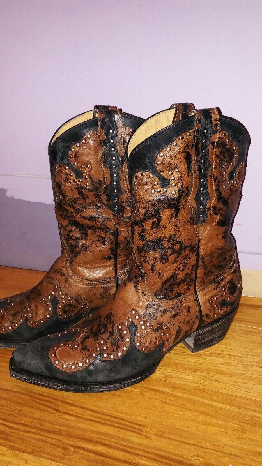 Old gringo ranger yippee ki yay camo studded bottes 9.5 leather cowboy cowgirl