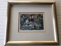 "Ilan Hasson Limited Edition Lithograph Print ""The Seder"", Framed, Signed, 94/300"