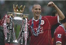 RIO FERDINAND - Hand Signed 12x8 Photo - Manchester Man United England Football