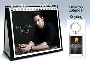 Jay Ryan 2021 Wall Holiday Calendar Keyring