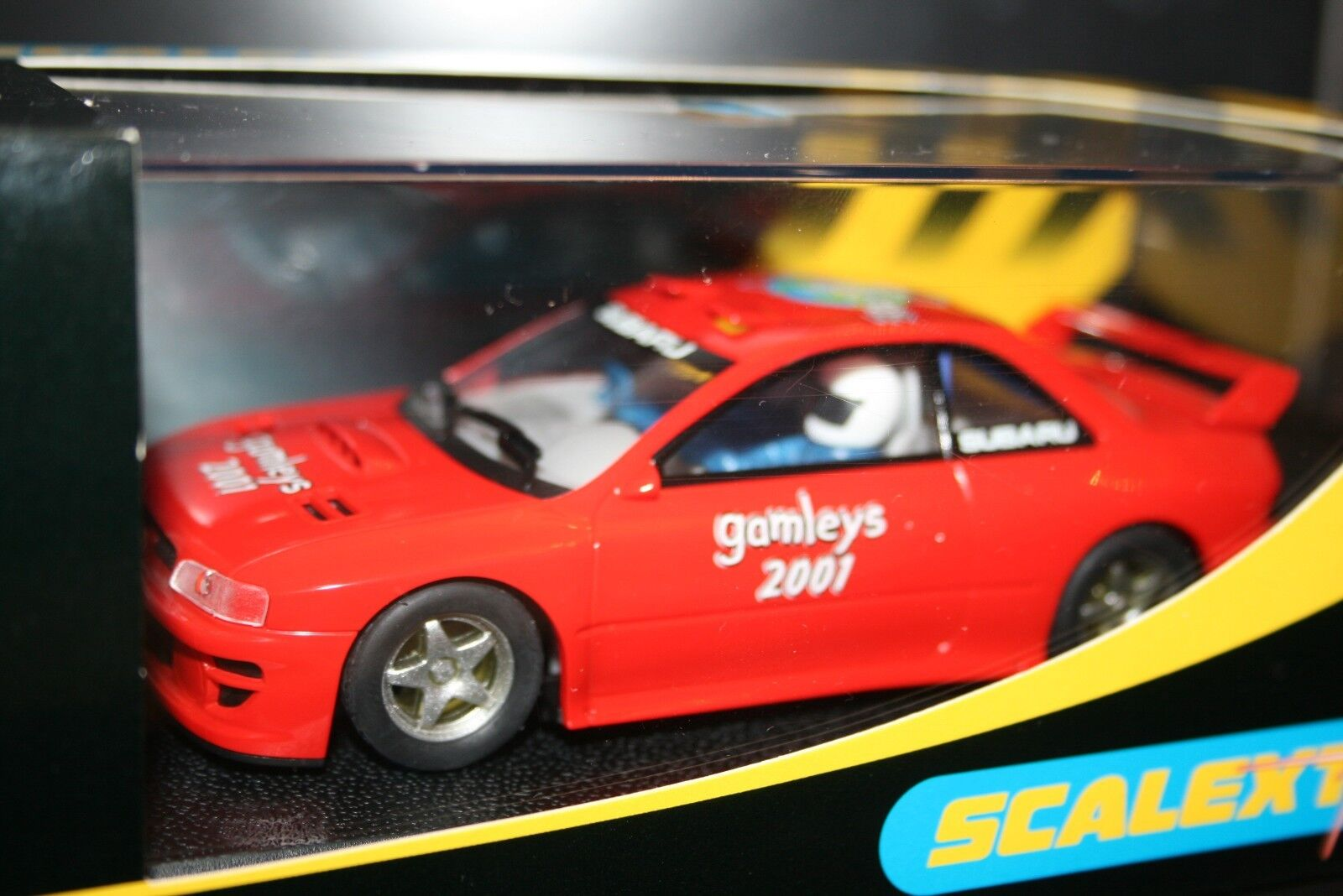 BOXED NEW SCALEXTRIC SUBARU IMPREZA C2387 LTD EDITION GAMELY'S SPECIAL EDITION