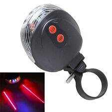 5 LED Laser Rücklicht Fahrrad Lampe Fahrradlicht Beleuchtung Lampe mit 2 Laser